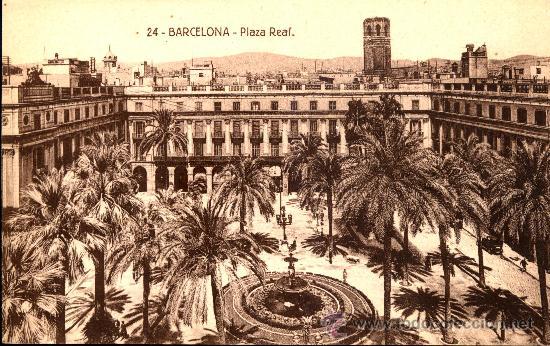 BARCELONA . PLAZA REAL (Postales - España - Cataluña Antigua (hasta 1939))