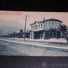 Postales: 2 OLESA DE MONTSERRAT , ESTACION FERROCARRILES CATALANES. Lote 12801952