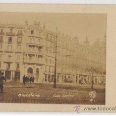 Postales: TARJETA POSTAL CALLE CORTES BARCELONA. Lote 12909445