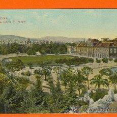 Postales: BARCELONA. VISTA GENERAL DEL PARQUE. DR. TRENKLER CON., LEIPZIG. 1908. SIN CIRCULAR. !!!MUY RARA!!. Lote 27043139