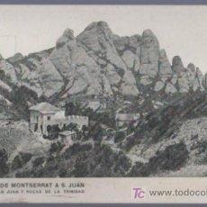 Postales: TARJETA POSTAL ANTIGUA DE BARCELONA. FUNICULAR DE MONTSERRAT A S. JUAN. . Lote 13067260