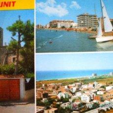 Postales: CUNIT: TARRAGONA. DIVERSOS ASPECTOS DE LA VILLA. RAYMOND Nº 12. AÑOS 70. Lote 274279783