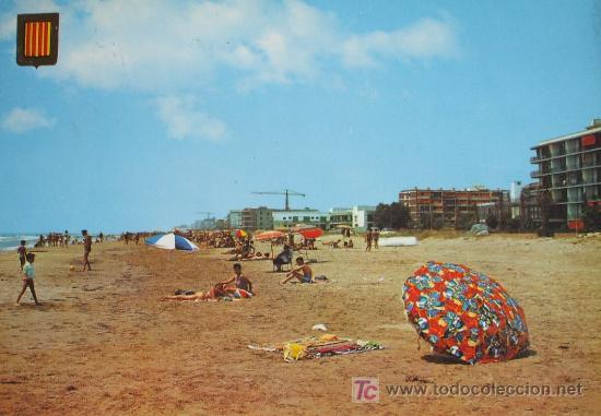 CUNIT: TARRAGONA. CAN TONI. PLAYA. COMERCIAL ESCUDO DE ORO Nº 6016 . CIRCULADA. AÑOS 70 (Postales - España - Cataluña Moderna (desde 1940))