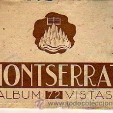 Postales: BLOC-ALBUM DE MONTSERRAT 72 VISTAS. Lote 13276203