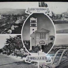 Postales: TARJETA POSTAL. RECUERDO DE MORA DE EBRO (TARRAGONA). AÑOS 50.. Lote 13469083