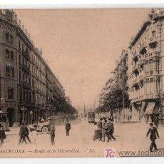 Postales: TARJETA POSTAL DE BARCELONA Nº 52. RONDA DE LA UNIVERSIDAD. LAURENT Y LEVY. Lote 13480755