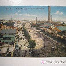 Postales: POSTAL BARCELONA: CALLE MARQUES DEL DUERO - PARALELO. Lote 13513651