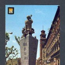 Postales: POSTAL DE L' HOSPITALET DE LLOBREGAT (BARCELONA): PLAÇA AJUNTAMENT, MONUM.SARDANA (ESC.ORO NUM.5799). Lote 13600130
