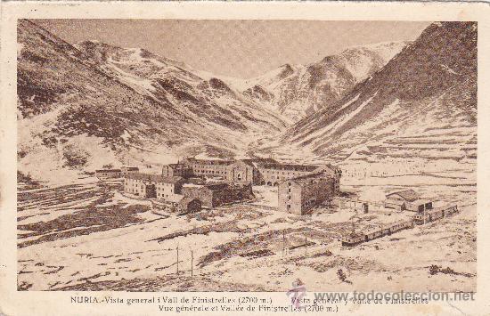NURIA (GERONA): VISTA GENERAL I VALL DE FINISTRELLES: 1932 EN TARJETA POSTAL CIRCULADA A VENDRELL. (Postales - España - Cataluña Antigua (hasta 1939))