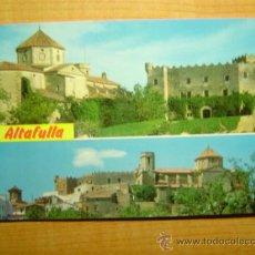 Postales: POSTAL COSTA DORADA TARRAGONA ALTAFULLA IGLESIA Y CASTILLO SIN CIRCULAR. Lote 13647246