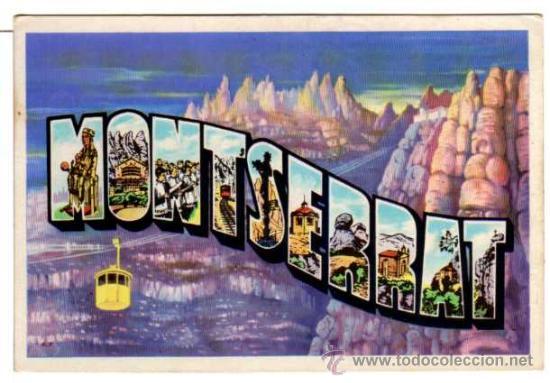 MONTSERRAT - DIBUJO Y LETRAS - T.G.SOLER. BARCELONA (Postales - España - Cataluña Moderna (desde 1940))