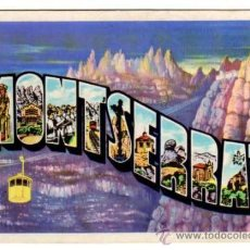 Postales: MONTSERRAT - DIBUJO Y LETRAS - T.G.SOLER. BARCELONA. Lote 13650478