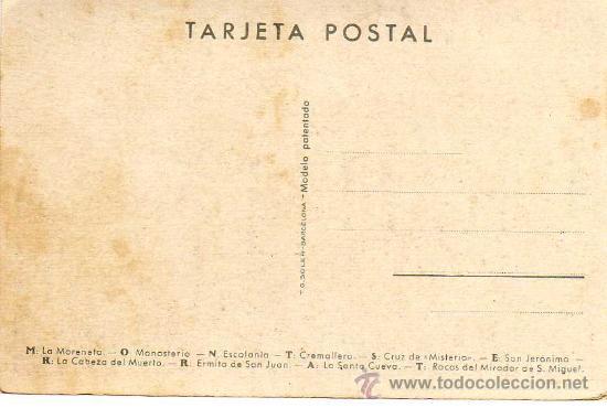 Postales: MONTSERRAT - Dibujo y Letras - T.G.Soler. Barcelona - Foto 2 - 13650478