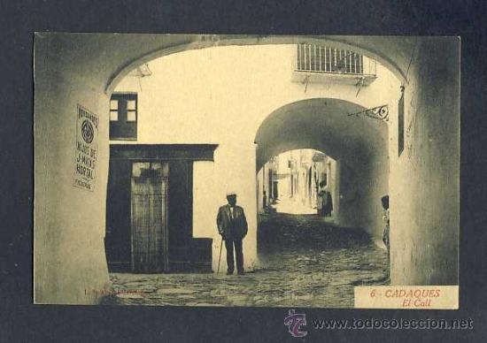 POSTAL DE CADAQUES (GIRONA): EL CALL (ROISIN NUM.6) (Postales - España - Cataluña Antigua (hasta 1939))