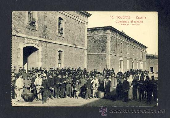 POSTAL DE FIGUERES (GIRONA): CASTELL, MENJANT EL RANXO (ROISIN, ED.J.SERRA NUM.10) (ANIMADA) (Postales - España - Cataluña Antigua (hasta 1939))