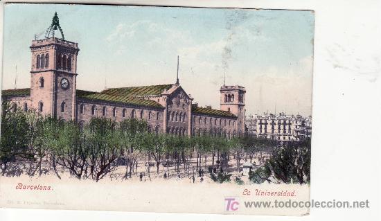 BARCELONA. LA UNIVERSIDAD.PHOTOCHROMIEKARTE 2345.PURGER & CO. MÜNCHEN. CIRCULADA.POSTAL NO DIVIDIDA. (Postales - España - Cataluña Antigua (hasta 1939))