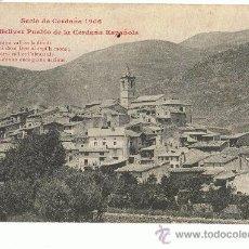 Postales: BELLVER, CERDAÑA. Lote 25981511