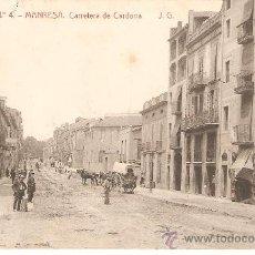 Postales: POSTAL DE MANRESA - CIRCULADA 12/6/14 CON SELLO DE EPOCA. Lote 18872479