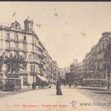 Postales: BARCELONA- PUERTA DEL ANGEL. Lote 13987134
