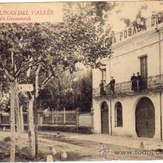 Postales: 17. LLINAS DEL VALLES. FONDA DOMENECH. NO CIRCULADA. Lote 18750349