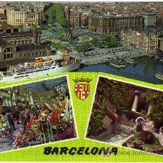 Postales: BONITA POSTAL - BARCELONA - VARIAS VISTAS DE LA CIUDAD . Lote 14688127