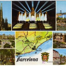 Postales: BONITA POSTAL - BARCELONA - VARIAS VISTAS DE LA CIUDAD . Lote 14688161
