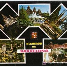 Postales: CURIOSA POSTAL - BARCELONA - VARIAS VISTAS DE LA CIUDAD . Lote 14688401