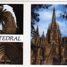 Postales: CURIOSA POSTAL - BARCELONA - TRES VISTAS DE MONUMENTOS . Lote 14688455