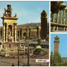 Postales: BONITA POSTAL - BARCELONA - CON TRE MONUMENTOS DE LA CIUDAD . Lote 14688534