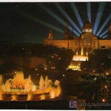 Postales: BONITA POSTAL - BARCELONA - PARQUE DE MONTJUICH Y FUENTE MAGICA . Lote 14688815