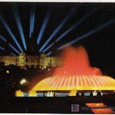 Postales: BONITA POSTAL - BARCELONA - FUENTE MONUMENTAL DE MONTJUICH - VISTA NOCTURNA . Lote 14689728