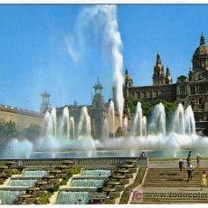 Postales: BONITA POSTAL - BARCELONA - FUENTE Y PALACIO NACIONAL DE MONTJUICH. Lote 14689921
