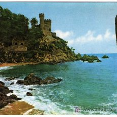 Postales: BONITA POSTAL - LLORET DE MAR (GERONA) - VISTA PARCIAL DEL CASTILLO Y PLAYA . Lote 14804590