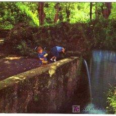 Postales: BONITA POSTAL - OLOT (GERONA) - FONT DE LES TRIES - FUENTE CON NIÑOS . Lote 14817405