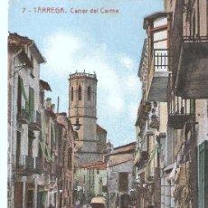 Postales: POSTAL DE TARREGA - CARRER DEL CARME , CIRCULADA EN 1934 SIN SELLO . Lote 25038568
