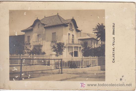 PS1291 POSTAL FOTOGRÁFICA DE CALDETAS VILLA ARACELI DE 1918 (Postales - España - Cataluña Antigua (hasta 1939))