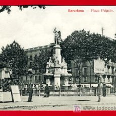 Postales: BARCELONA, PLAZA PALACIO, P29905. Lote 14875565