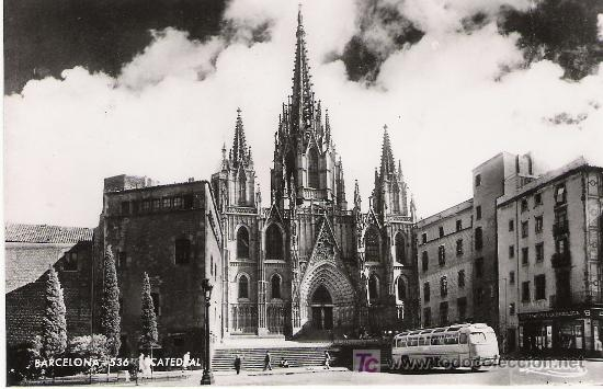 BARCELONA - CATEDRAL - AÑOS 50 - (Postales - España - Cataluña Moderna (desde 1940))