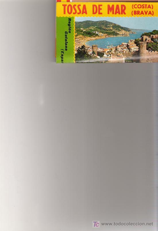 TOSSA DE MAR - MINIBLOCK CON 14 IMAGINES VARIADAS - (Postales - España - Cataluña Moderna (desde 1940))