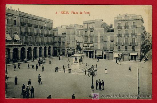 REUS , TARRAGONA , PLAZA DE PRIM , P40243 (Postales - España - Cataluña Antigua (hasta 1939))