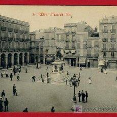 Postales: REUS , TARRAGONA , PLAZA DE PRIM , P40243. Lote 15016215