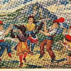Postales: LA SARDANA A MONTSERRAT. POSTAL CATALANISTA DE LOS AÑOS TREITA. Lote 26381350