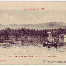 Postales: PUIGCERDÁ (GERONA): EL LAGO DE PUIGCERDÁ. PHOTOTYPIE LABOUCHE FRÉRES. CIRCULADA (AÑOS 20). Lote 24664051