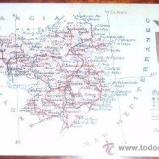 Postales: POSTAL MAPA GIRONA - ALBERTO MARTIN. Lote 20258668