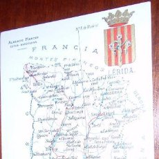 Postales: POSTAL MAPA LERIDA - ALBERTO MARTIN. Lote 20258688