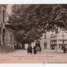 Postales: TARJETA POSTAL DE PUIGCERDA, GERONA. PLAZA BARCELONA. PHOTOTYPIE LABOUCHE. Lote 15352034