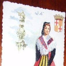 Postales: POSTAL BORDADA BARCELONA. Lote 21376023