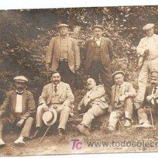 Postales: SAN HILARI SACALM, GERONA1914.FOTOGRAFIA DE GRUPO DE HOMBRES - ESCRITA Y CON SELLO-VELL I BELL. Lote 26574018