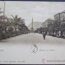 Postales: BARCELONA.- PASEO DE COLON – DR. TRENKLER CO. LEIPZIG. NO 13374. Lote 25082718