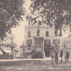 Postales: FIGUERES (GIRONA) 1926: REVERS DEL MONUMENT A MONTURIOL I CARRERS DE MONTURIOL I CAAMANO: POSTCARD C. Lote 26397228